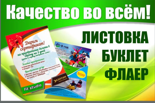 Создам качественный дизайн привлекающей листовки, флаера 54 - kwork.ru