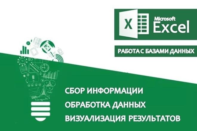 Сбор и обработка информации в Excel 1 - kwork.ru