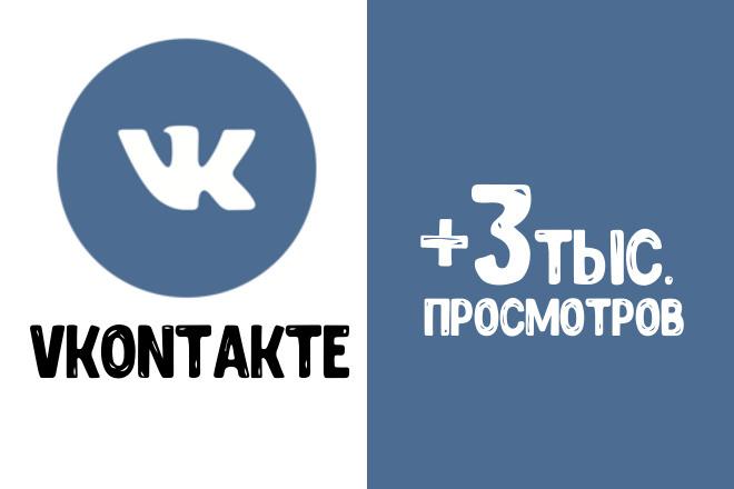 +3000 живых целевых просмотров на пост Вконтакте через Таргет 1 - kwork.ru