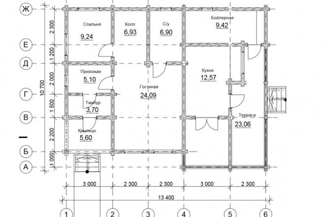 Оцифровка плана этажа, перечерчивание плана дома в Archicad 17 - kwork.ru