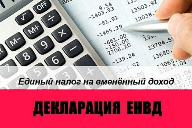 Заполнение декларации по ЕНВД для ИП, ООО 1 - kwork.ru