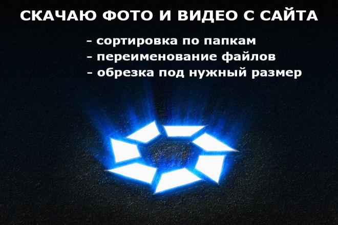 Скачаю фото, видео с сайта, разложу их по папкам 1 - kwork.ru