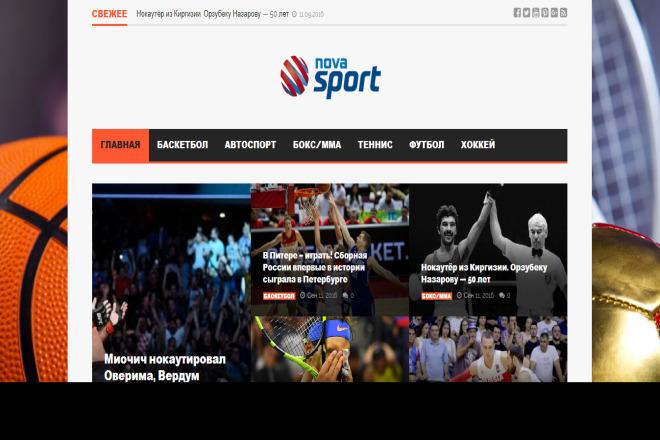 2 Автонаполняемых сайта о спорте на WordPress 1 - kwork.ru
