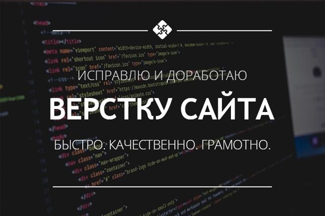 Исправлю и доработаю верстку вашего сайта 1 - kwork.ru
