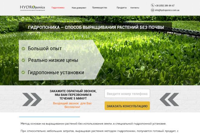 Создам дизайн сайта-визитки 10 - kwork.ru