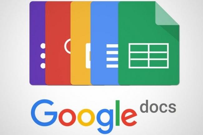 Обучение работе в Google Docs 1 - kwork.ru