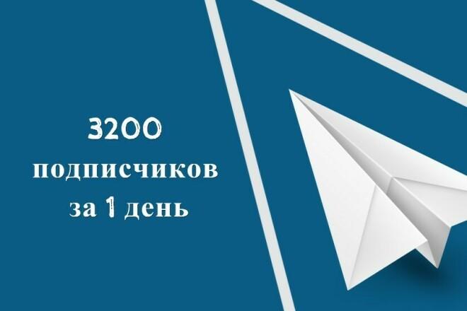 3200 подписчиков Telegram в канал или чат за 1 день, Ру логины+фото 1 - kwork.ru