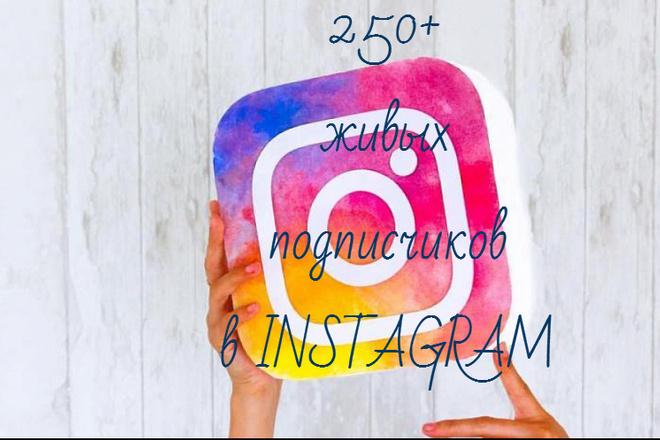 250 Живых подписчиков В instagram. Бонус 250+ лайков 1 - kwork.ru