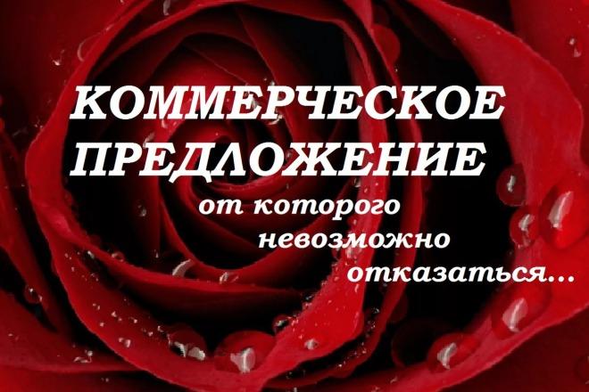 Напишу отличный текст коммерческого предложения 1 - kwork.ru