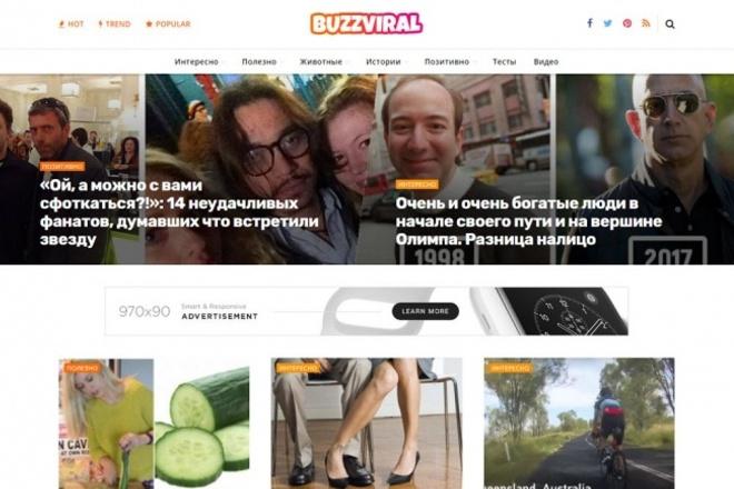 Автонаполняемый развлекательный сайт BuzzViral 1 - kwork.ru