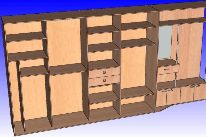Разработаю конструкторскую документацию для изготовления мебели фото
